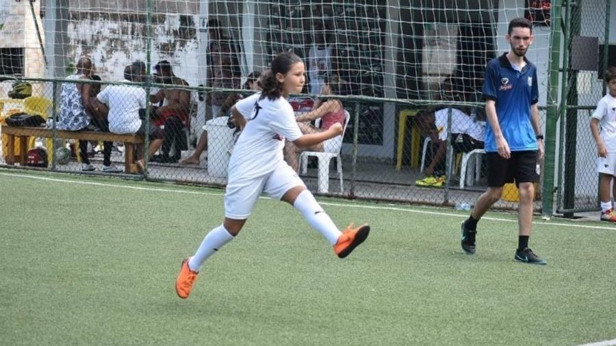 Maria Clara foi impedida de jogar futebol por ser menina - Reprodução/Instagram
