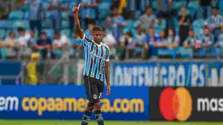 Jean Pyerre pode ser novidade do Grêmio na final do Gaúcho - Lucas Uebel/Grêmio FBPA - Lucas Uebel/Grêmio FBPA