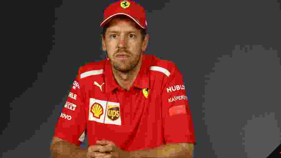 Vettel na coletiva de imprensa após o GP do Canadá - Mark Thompson/Getty Images/AFP