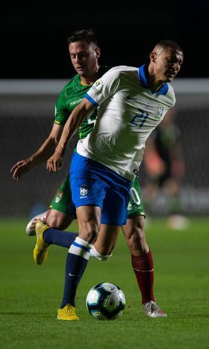 Richarlison, durante partida entre Brasil e Bolívia