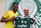 """Mina diz que foi """"uma emoção muito grande poder reencontrar o Palmeiras"""" - Fabio Menotti/Ag. Palmeiras/Divulgação"""