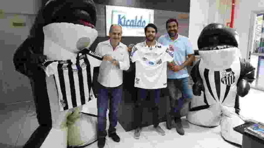 Santos apresenta a Kicaldo como novo patrocinador - Divulgação/Santos FC