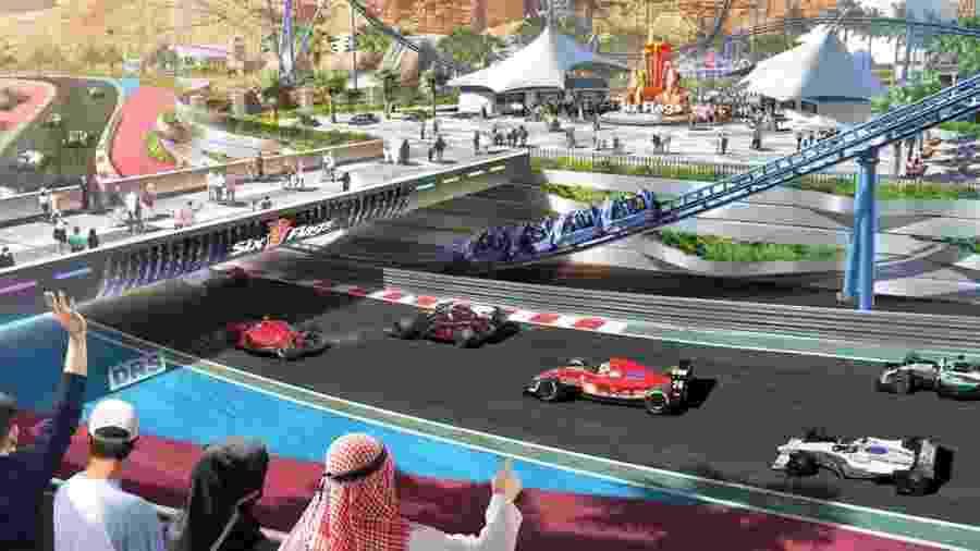 Projeto de novo circuito que busca receber a F-1 na Arábia Saudita - Divulgação