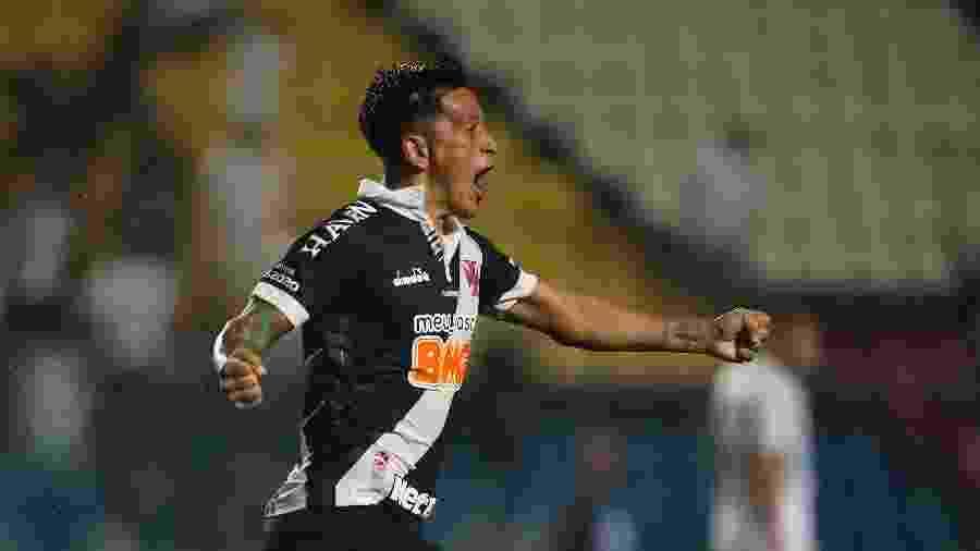 Germán Cano comemora seu primeiro gol com a camisa do Vasco, feito sobre o Boavista, na Taça Guanabara - Rafael Ribeiro / Vasco