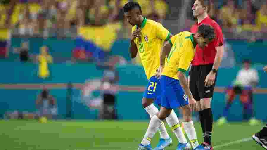 Bruno Henrique estreou pela seleção brasileira em jogo contra a Colômbia em setembro de 2019 - Lucas Figueiredo/CBF