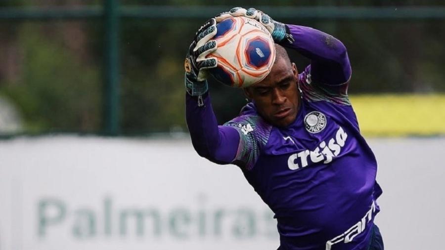 Jailson, goleiro do Palmeiras, em treinamento do clube durante paralisação do Paulistão - Reprodução/Instagram