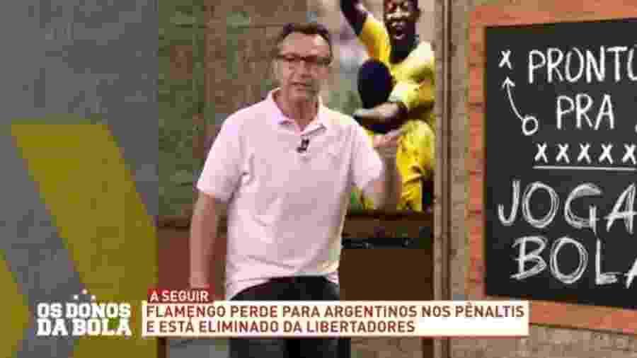Neto diz que Ceni é o culpado pela eliminação do Flamengo na Libertadores - Reprodução/Band