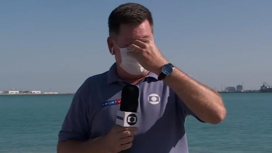 Repórter da TV Globo se emocionou ao revelar superação no Qatar diante das dificuldades por conta da pandemia - Reprodução/TV Globo