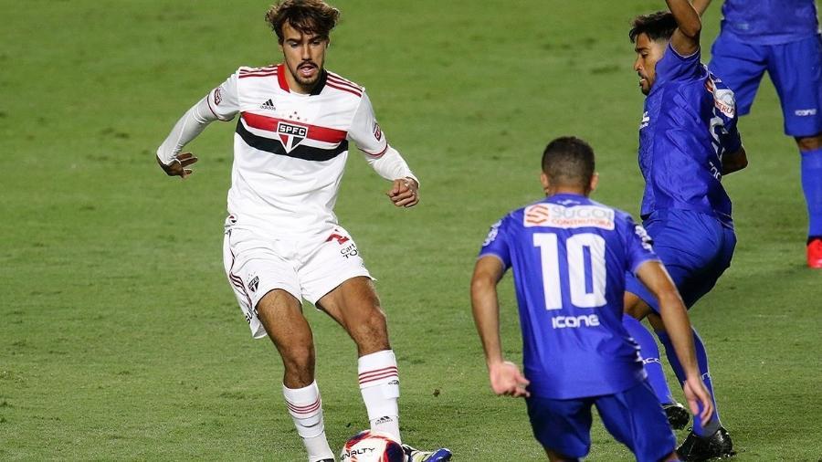 Igor Gomes durante a partida entre São Paulo e Santo André, pelo Campeonato Paulista - Divulgação / São Paulo FC