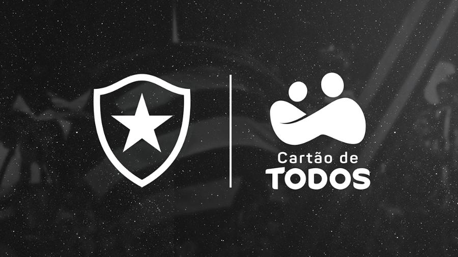 Botafogo anuncia Cartão de TODOS como novo patrocinador - Reprodução site oficial Botafogo