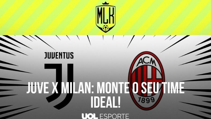 Juventus e Milan se enfrentam pela 35ª rodada do Campeonato Italiano - Arte/UOL