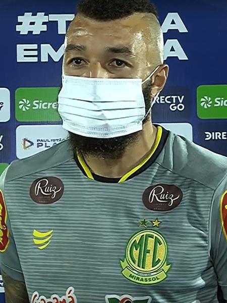 Goleiro Alex Muralha desabafa após classificação do Mirassol para as semifinais do Paulistão - Reprodução/Premiere