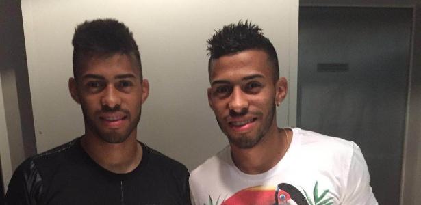 Kaike (esq) e Kaio chegaram a Inter e Grêmio no fim de 2012 e agora estão no profissional