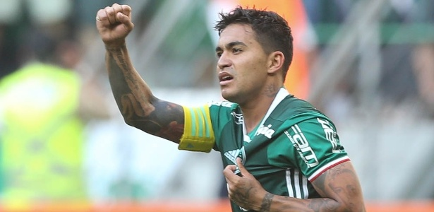 O atacante Dudu, em ação pelo Palmeiras