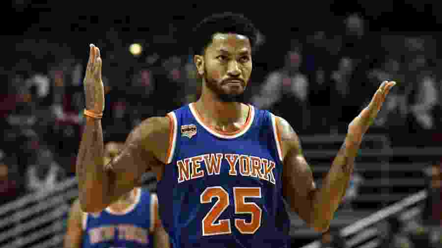 Rose jogou a última temporada no New York Knicks - David Banks/USA TODAY Sports