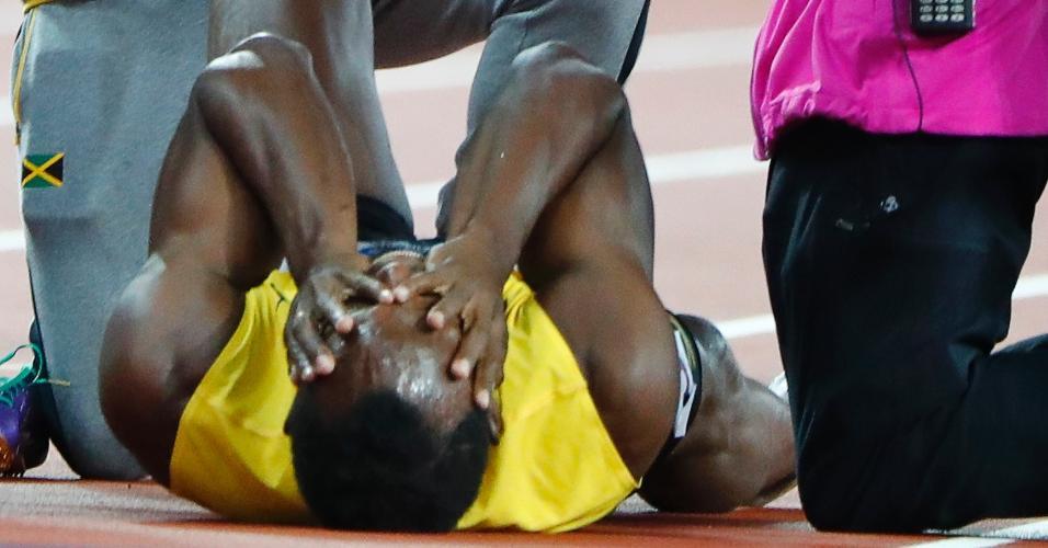 Bolt recebe o primeiro atendimento ainda na pista