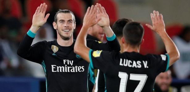 Bale comemora após marcar pelo Real Madrid contra o Al Jazira - Matthew Childs/Reuters