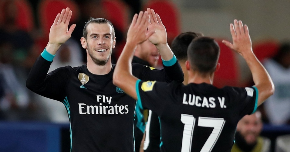 Bale comemora após marcar o segundo do Real contra o Al Jazira