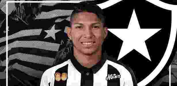 Arte feita pelo Botafogo para o anúncio da contratação de Rony - Gabriel Assis/BFR