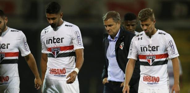 Tricolor reclamaram muito de expulsão de Rodrigo Caio e de faltas dos argentinos