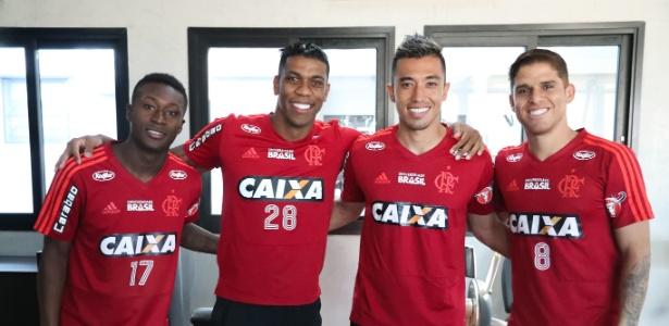 Marlos, Berrío, Uribe e Cuéllar: os colombianos do elenco rubro-negro em 2018