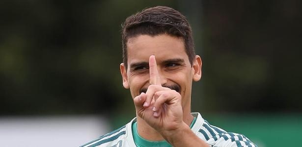 Jean em ação durante treino do Palmeiras - Cesar Greco/SE Palmeiras