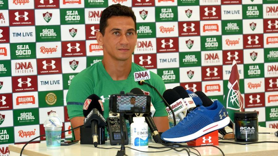 Ganso durante entrevista coletiva no Fluminense - Mailson Santana/Fluminense
