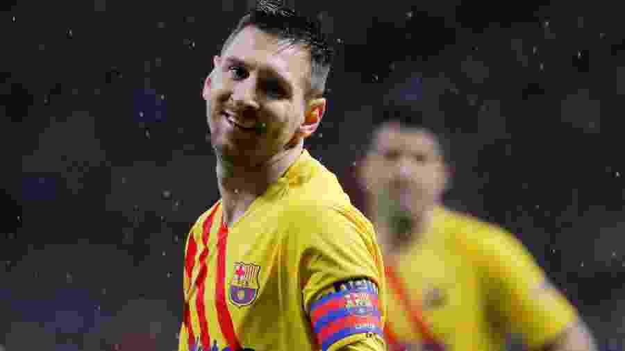 Messi no jogo do Barcelona contra o Atlético de Madrid - REUTERS/Susana Vera