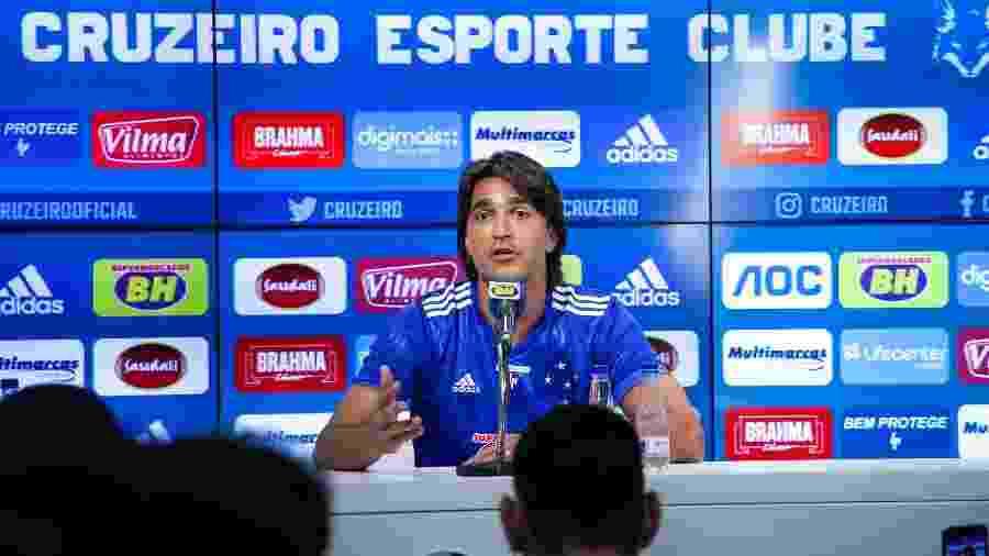 Marcelo Moreno já treina para aprimorar a parte física antes de se tornar o centroavante titular do Cruzeiro - Bruno Haddad/Cruzeiro