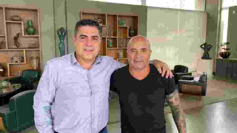 Presidente Sérgio Sette Câmara e Jorge Sampaoli, novo técnico do Atlético-MG - Atlético-MG/Divulgação