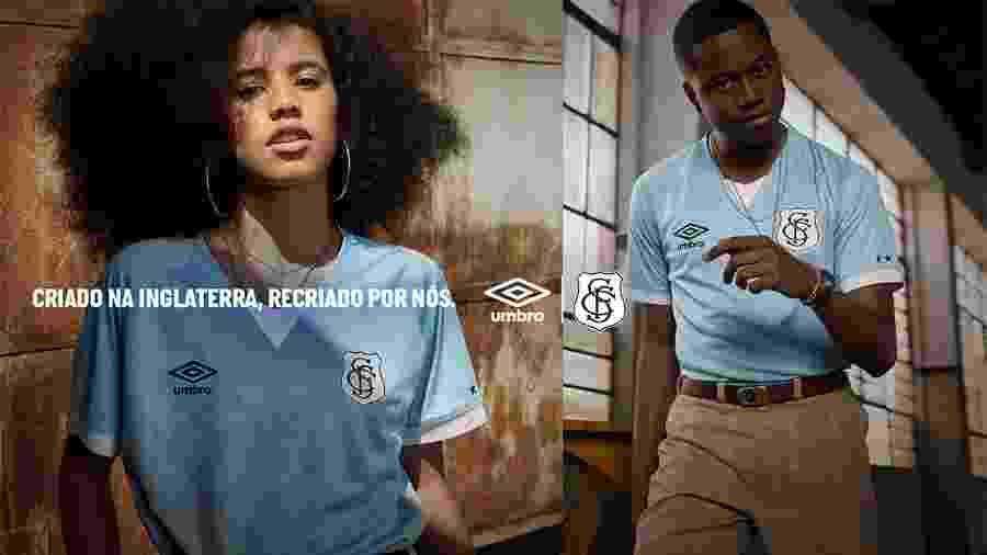 Santos lança terceiro uniforme com escudo retrô - Reprodução
