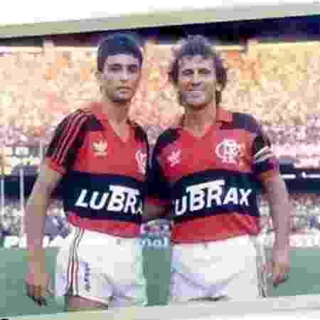 Bebeto e Zico foram companheiros pelo Flamengo - Reprodução Instagram Bebeto - Reprodução Instagram Bebeto
