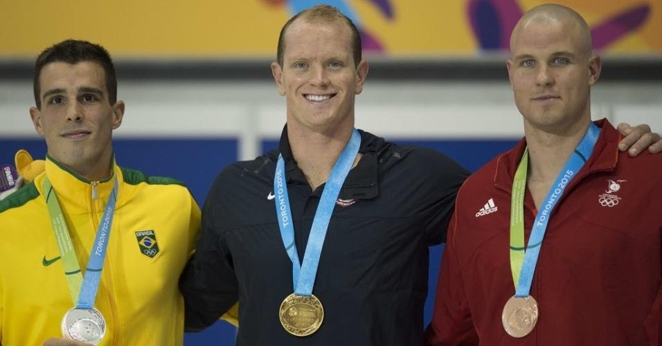 Bruno Fratus ficou com medalha de prata nos 50m livre