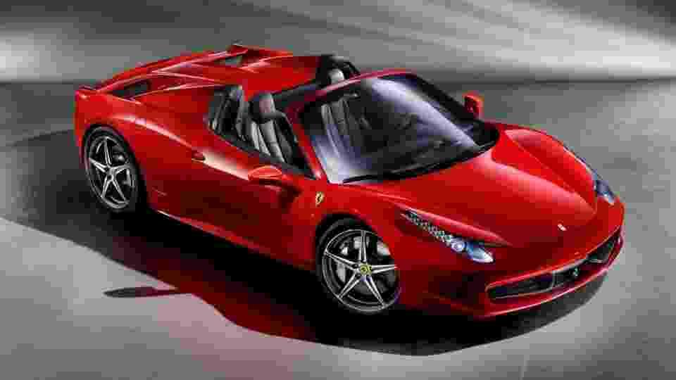 Ferrari 458 Spider, a Ferrari de Neymar - Divulgação