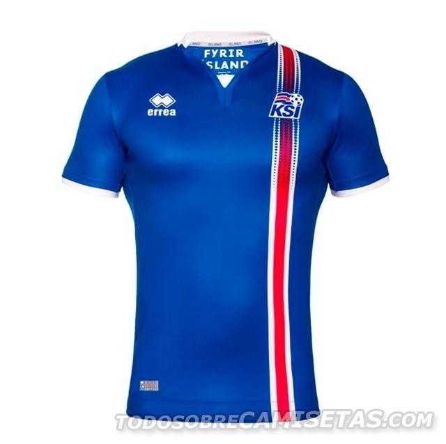 GRUPO F: Islândia (camisa titular, Erreà)