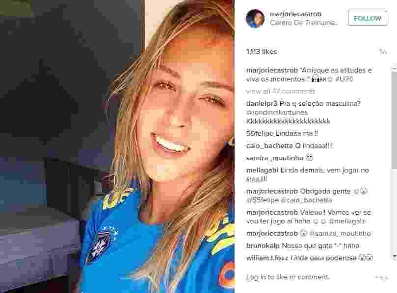 Marjorie Castro, da seleção brasileira sub-20, faz sucesso nas redes sociais - Reprodução/Instagram