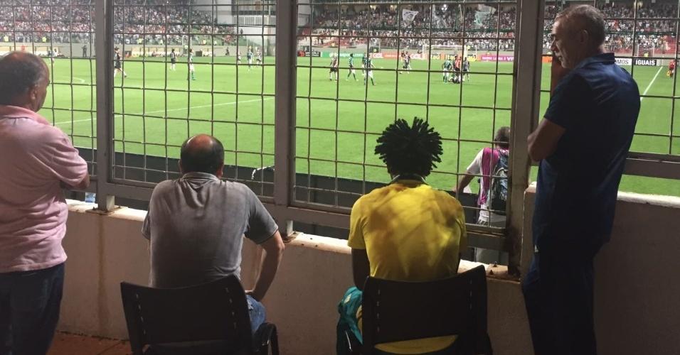 Zé Roberto assiste jogo Atlético-MG Palmeiras