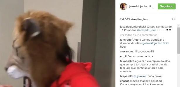 A mensagem de José Aldo após vitória de Amanda Nunes no UFC  - Reprodução/Instagram