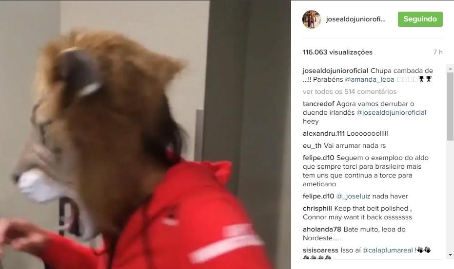 José Aldo vibra com vitória de Amanda Nunes