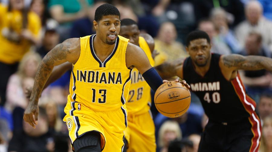 Paul George, jogador do Indiana Pacers - Brian Spurlock/USA TODAY Sports