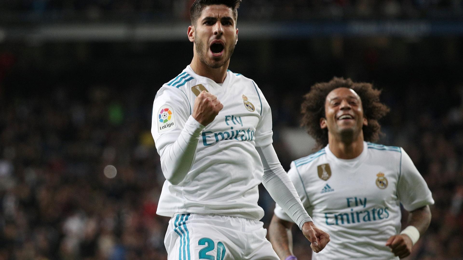 Asensio comemora seu gol na vitória sobre o Las Palmas