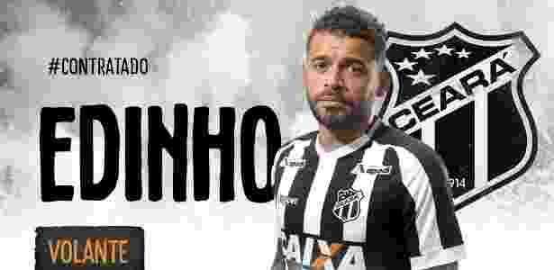 Edinho assinou com o Ceará até dezembro do ano que vem - Divulgação/cearasc.com