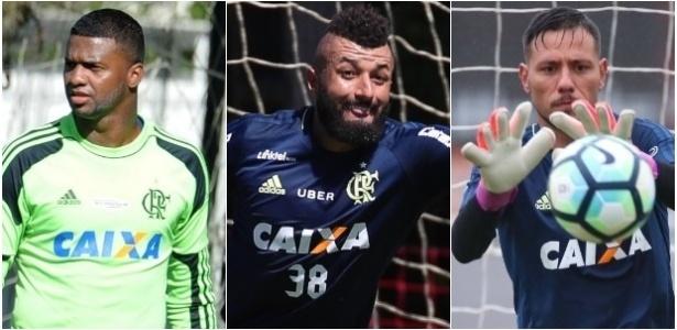 Goleiros Felipe, Muralha e Diego Alves viraram problemas no Flamengo - Montagem/UOL Esporte
