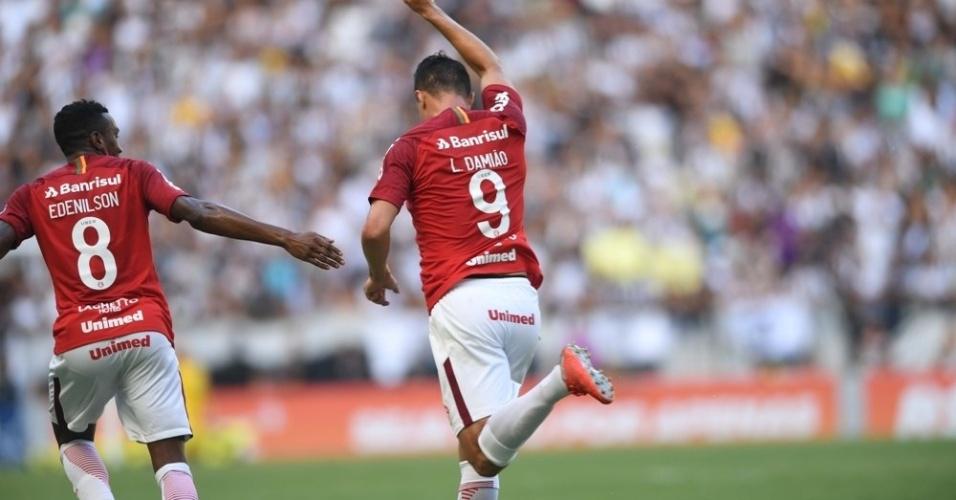 Leandro Damião comemora gol do Internacional diante do Ceará pelo Campeonato Brasileiro 2018