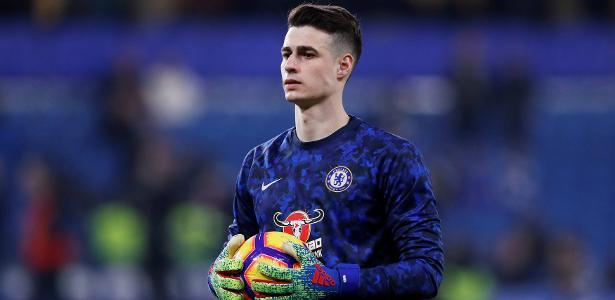 Após atrito com Sarri, Kepa foi reserva na partida contra o Tottenham, pela Premier League - Paul Childs/Reuters