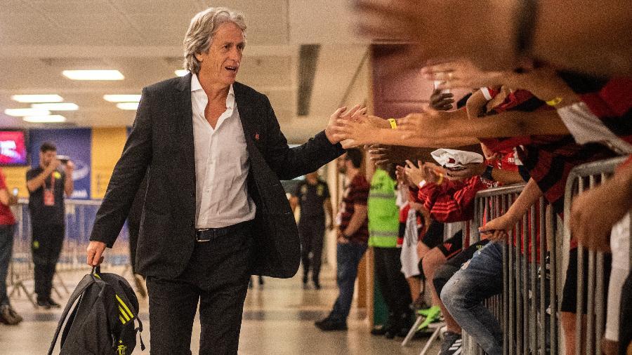 Jorge Jesus está desde junho no comando do Flamengo - Alexandre Vidal & Paula Reis / Flamengo