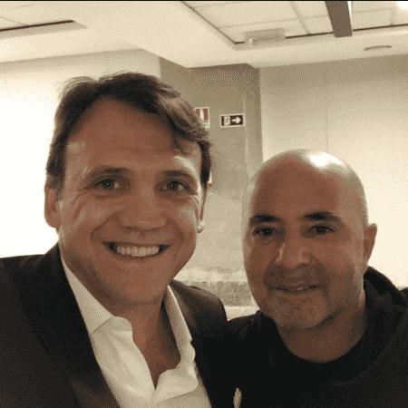 Petkovic encontrou Sampaoli no aeroporto - Reprodução / Instagram