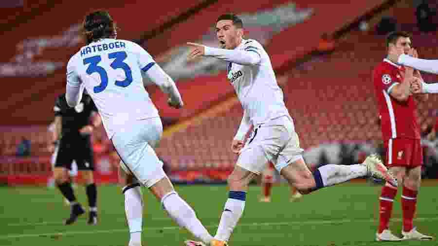 Atalanta surpreende e vence o Liverpool na Inglaterra pela Liga dos Campeões - Laurence Griffiths / POOL / AFP