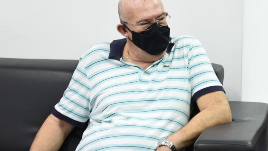 Andres Rueda, presidente do Santos, em reunião na Vila Belmiro - Ivan Storti