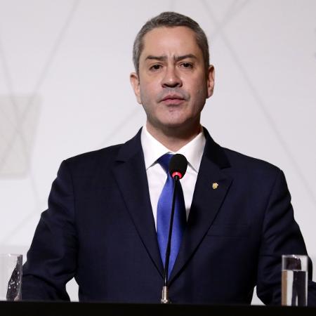 Rogério Caboclo, no discurso após ser eleito presidente da CBF, em 2018 - Lucas Figueiredo/CBF